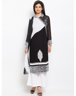 Ethnic Wear Readymade Black Salwar Suit  - 20946