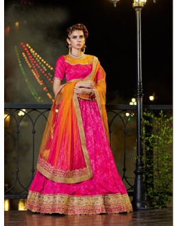 Traditional Wear Rani Two TOn Jacquard Lehenga - 21320