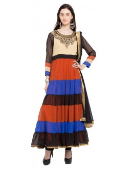 Festival Wear Readymade Multi Colour Faux Georgette Salwar Suit  - 21333