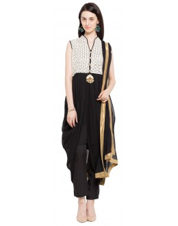 Festival Wear Readymade Black Faux Georgette Salwar Suit  - 21365