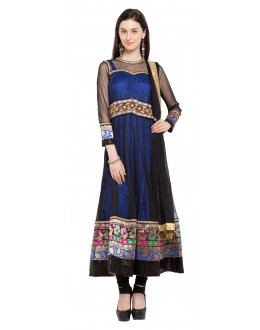 Traditional Wear Readymade Black Net  Salwar Suit  - 21470