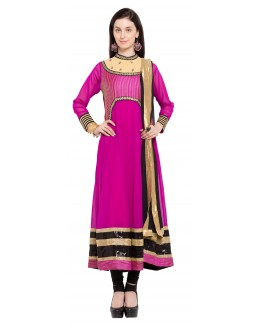 Festival Wear Readymade Pink Faux Georgette Salwar Suit  - 21471
