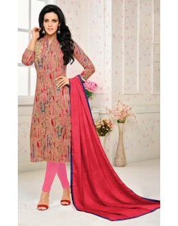 Festival Wear Multi Colour Cotton Salwar Suit - 21657