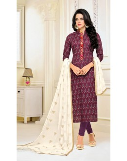 Party Wear Maroon Rayon Salwar Suit - 21659