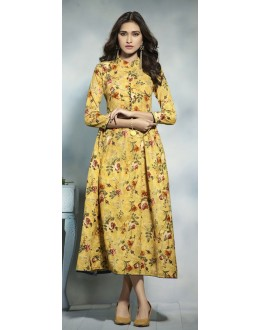 Festival Wear Readymade Multicolour Cotton Kurti  - 21914