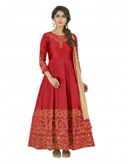 Festival Wear Deep Maroon Anarkali Suit - 22810