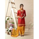Festive Wear Light Red Patiala Suit - 22821