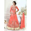 Designer Orange Slit Anarkali Suit-22824