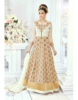 Festive Wear Beige Anarkali Suit -22827