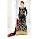Embroidered Black Slit Anarkali Suit -22828