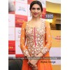 Bollywood Replica - Deepika Padukone Orange Anarkali Suit At Promotes Ramleela  - 05(SIA)