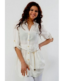 Party Wear Readymade White Western Wear Dress - 1021006