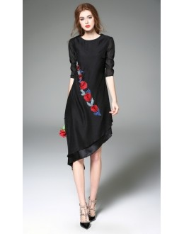 Fancy Wear Readymade Black Western Wear Dress - 1021010