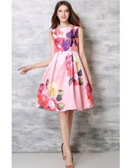 Fancy Readymade Peach Western Wear Dress - 101033