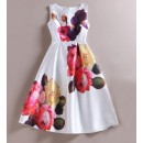 Fancy Readymade White Western Wear Dress - 101036