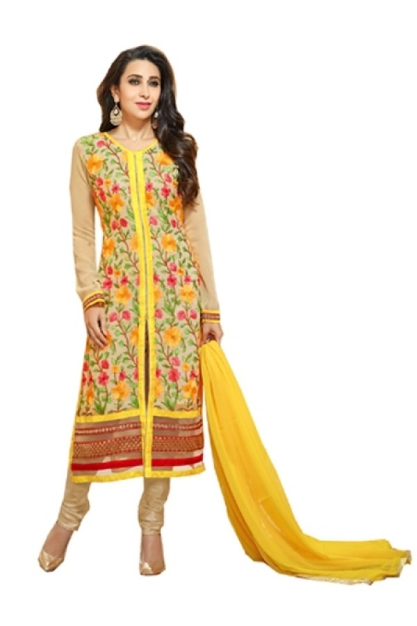 Eid Special  Yellow Georgette  Salwar suit  - 1890107