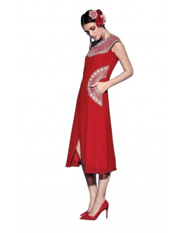 Gorgeous Red Georgette Kurti - 1890222