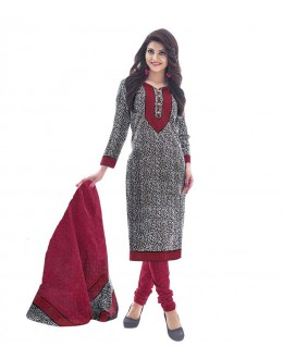 Cambric Cotton White Churidar Suit Dress Material - 5490526