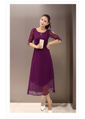 Party Wear Faux Georgette Purple Kurti - 102013