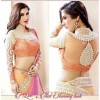 Party Wear Georgette Light Pink & Orange Saree - 533