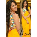 Party Wear Georgette Yellow Saree - 537