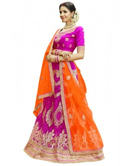 Traditional Wear Pink Net Lehenga Choli - 23001