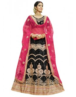 Ethnic Wear Black Net Lehenga Choli - 23005