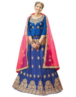 Ethnic Wear Blue Banglori Silk Lehenga Choli - 28002
