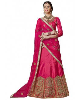 Traditional Wear Pink Banglori Silk Lehenga Choli - 25004