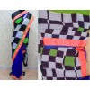 Bollywood Replica - Deepika Padukone Chess Print Saree for Lungi Dance Chennai Express - 5047 (IB-25)