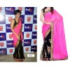 Bollywood Replica - Mandira Bedi in beautiful pink and black designer half and half saree - 5052 (IB-25)