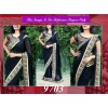 Bollywood Replica - Designer Black Heavy Embroidered Saree - 9703