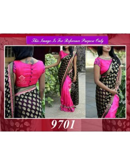 Bollywood Replica - Designer Pink & Purple Wedding Wear Saree - 9701
