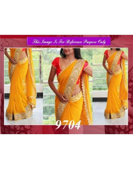 Bollywood Replica - Designer Yellow Border Work Saree - 9704
