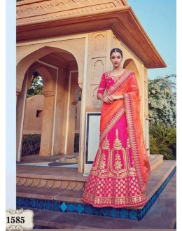 Bollywood Style - Wedding Wear Pink & Orange Lehenga Choli - 1585