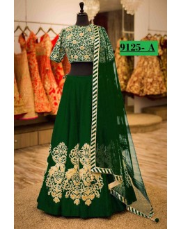 Bollywood Style - Designer Green Tapeta Silk Lehenga Choli  - 9125-A