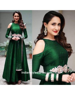 Bollywood Inspired - Party Wear Green Silk Gown - AB-73Green