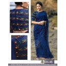 Bollywood Inspired - Designer Blue Georgette Saree - SN-46