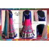 Bollywood Replica -  Designer Pink & Blue Embroidered Pure Net  Lehenga Choli  - 7183