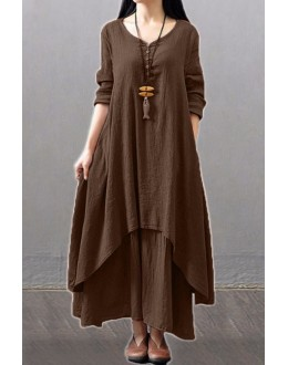 Party Wear Fancy Brown Kurti Palazzo Suit - NooorieeBrown
