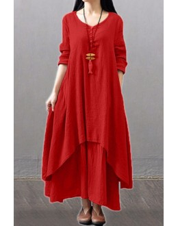 Party Wear Fancy Red Kurti Palazzo Suit - NooorieeRed