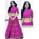 Bollywood Replica -  Wedding Wear pink Embroidered Bhagalpuri Silk Lehenga Choli  - Aishwariya01