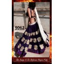 Bollywood Replica -  Wedding Wear Royal Blue Embroidered Lehenga Choli  - 9062