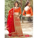 Ethnic Wear Net Beige Lehenga Choli - 90006