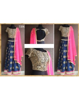 Bollywood Replica - Wedding Wear Blue & Pink Lehenga Choli - 7296
