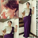 Bollywood Replica - Heena Khan In Designer Purple Lycra Saree - 9721-B