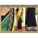 Bollywood Replica - Wedding Wear Multi-Colour Half-Half Saree - 9724