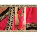 Bollywood Replica - Party Wear Pink Georgette Saree - 9729