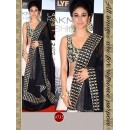 Bollywood Replica - Mouni Roy In Designer White & Black Silk Lehenga Choli - 9733