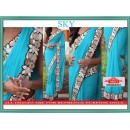Bollywood Replica - Wedding Wear Sky Blue Lycra Silk Saree - 9803-SBlue